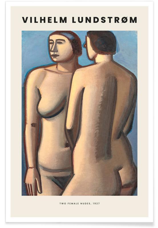 , Lundstrøm - Two Female Nudes affiche