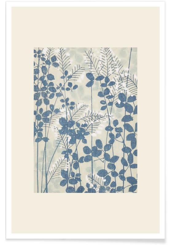 Vintage Travel, Japanese Inspired, Shin-Bijutsukai - Leaves And Ferns Poster