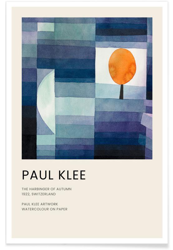 , Klee - The Harbinger of Autumn affiche