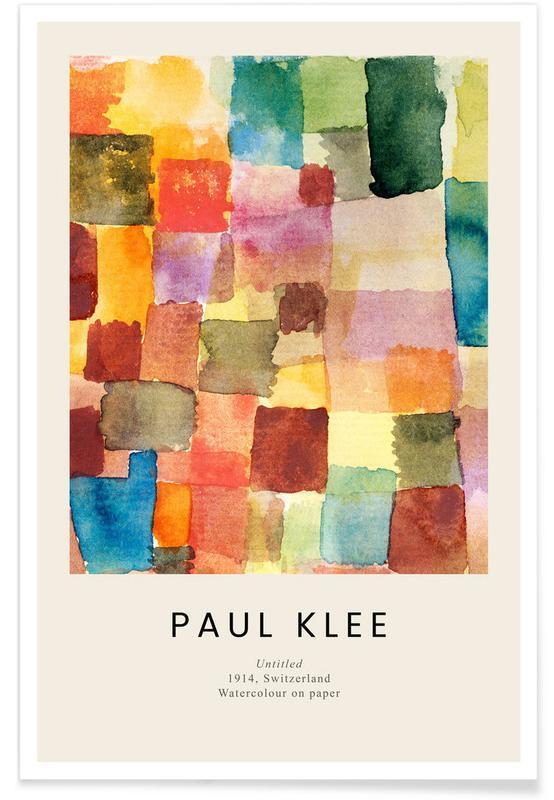 , Klee - Untitled, 1914 affiche
