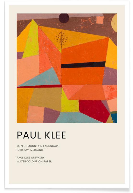 , Klee - Joyful Mountain Landscape affiche