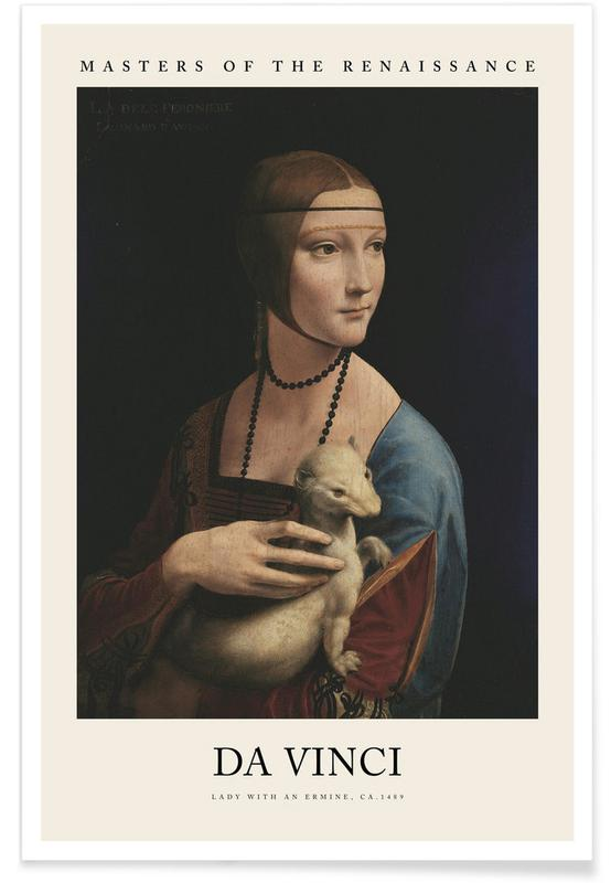 , da Vinci - Lady with an Ermine affiche
