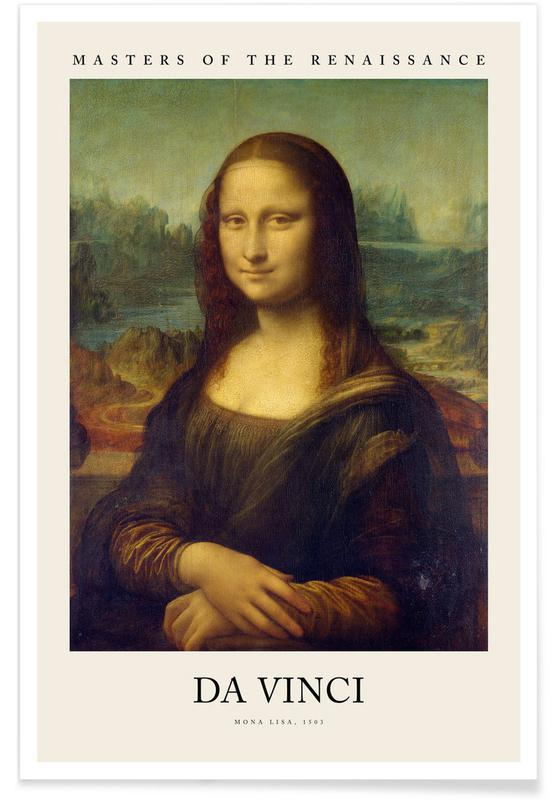 , da Vinci - Mona Lisa -Poster