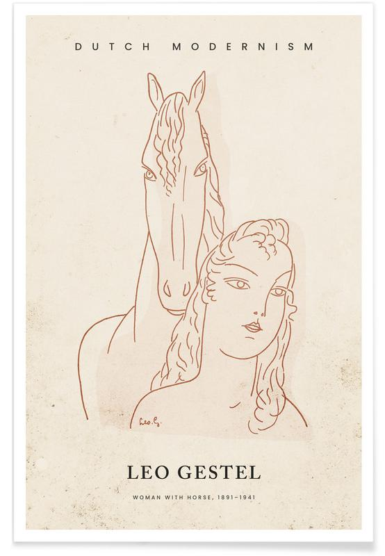, Gestel -  Woman with Horse affiche