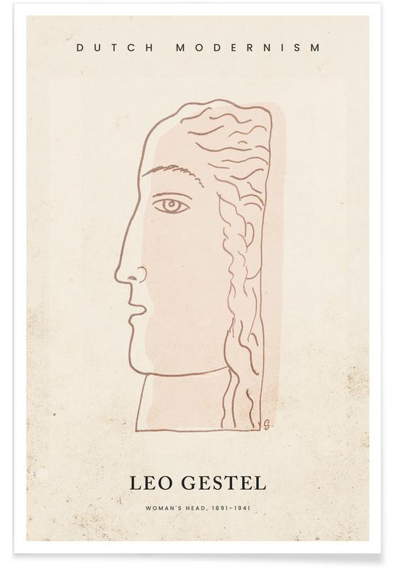 , Gestel - Woman's Head Poster