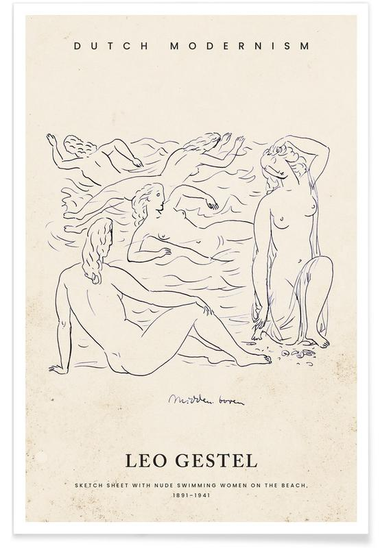, Gestel - Nude Swimming Women -Poster