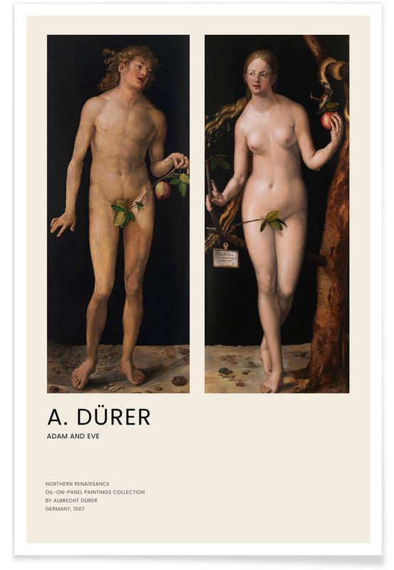 , Dürer - Adam and Eve affiche
