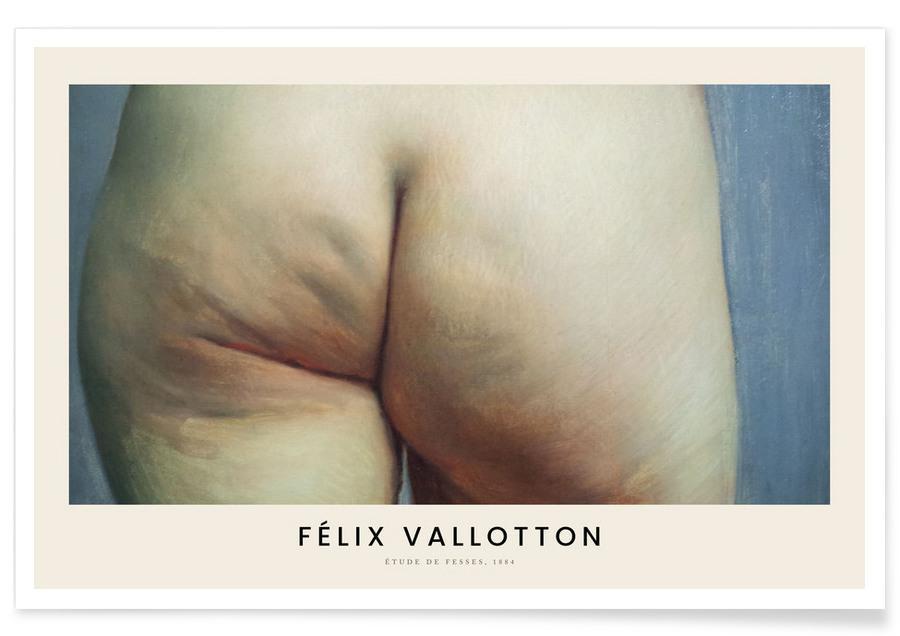 , Vallotton - Etude de Fesses Plakat