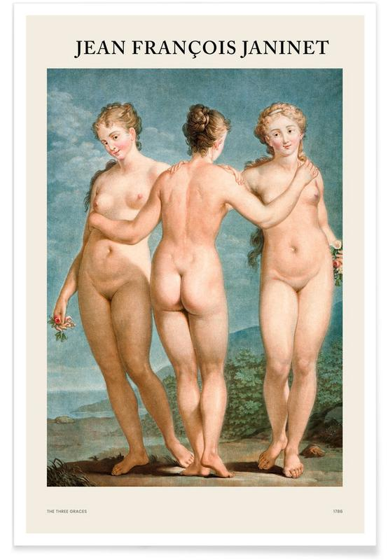 , Janinet - The Three Graces poster