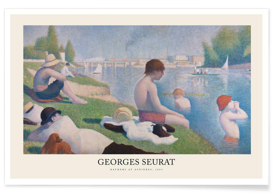 , Seurat - Bathers at Asnières affiche