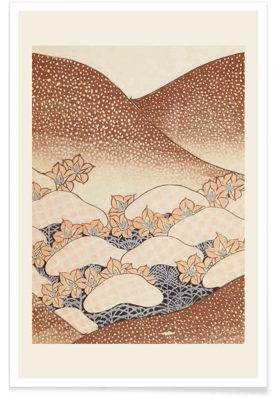 Vintage Travel, Japanese Inspired, Shin-Bijutsukai - Mycological Mountain Poster