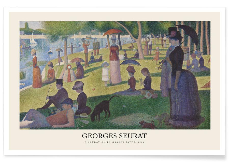 , Seurat - A Sunday on La Grande Jatte Poster
