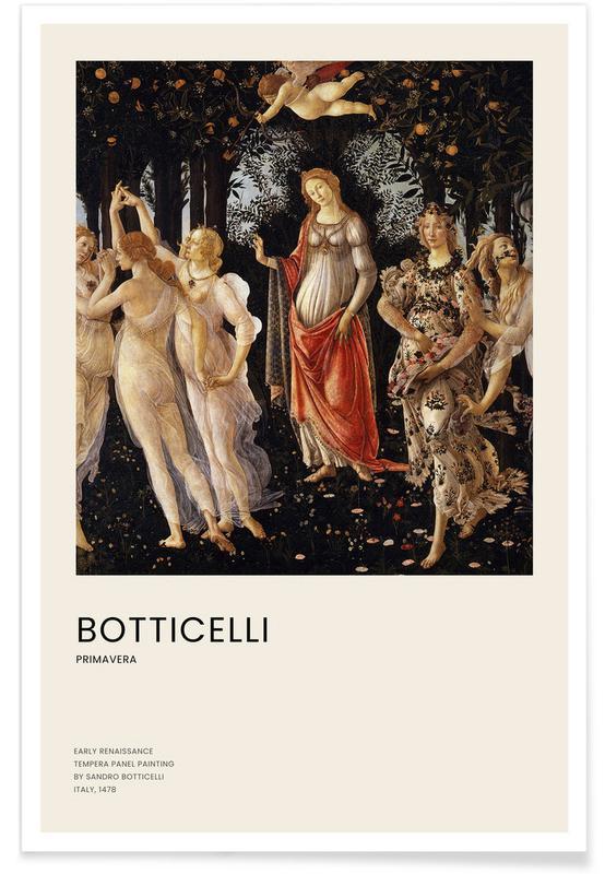 , Botticelli - Primavera affiche