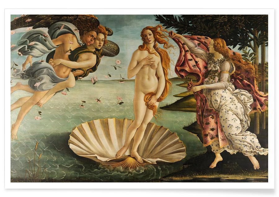 , Botticelli - The Birth of Venus affiche