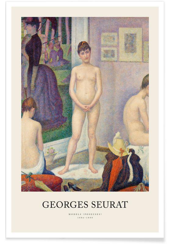 , Seurat - Models (Poseuses) affiche