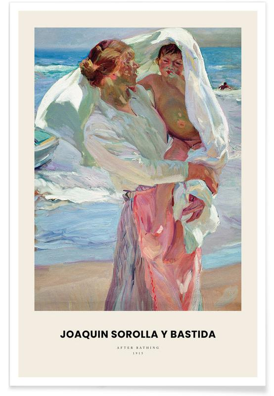 , Sorolla y Bastida - After Bathing -Poster
