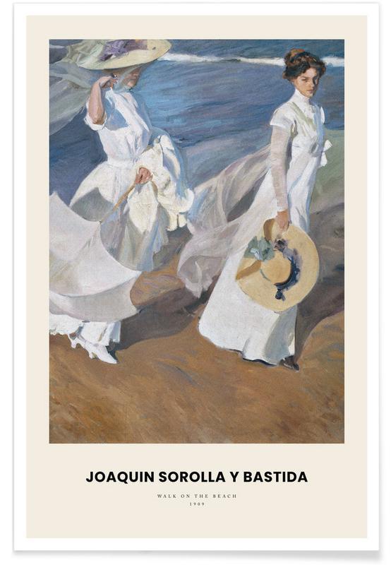 , Sorolla y Bastida - Walk on the Beach Poster