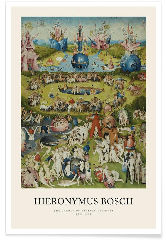 , Bosch - The Garden of Earthly Delights affiche
