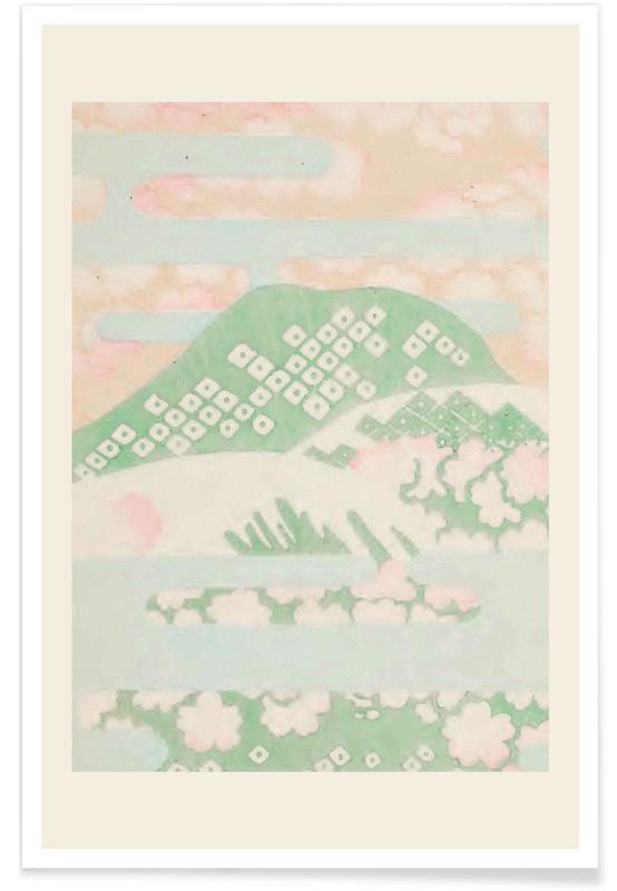 Vintage voyage, D'inspiration japonaise, Shin-Bijutsukai - Pastel Haze affiche