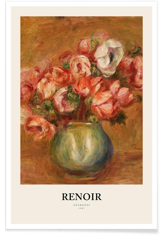, Renoir - Anemones affiche