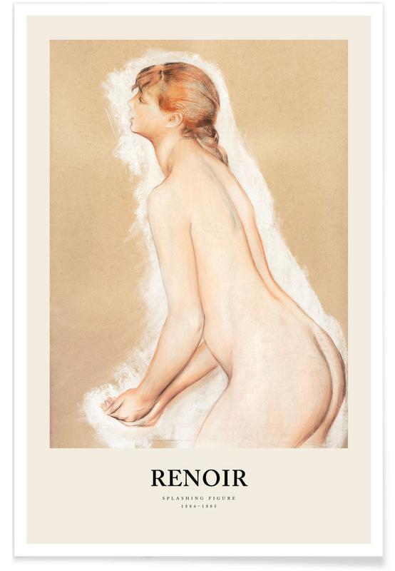 Portraits, Renoir - Splashing Figure affiche