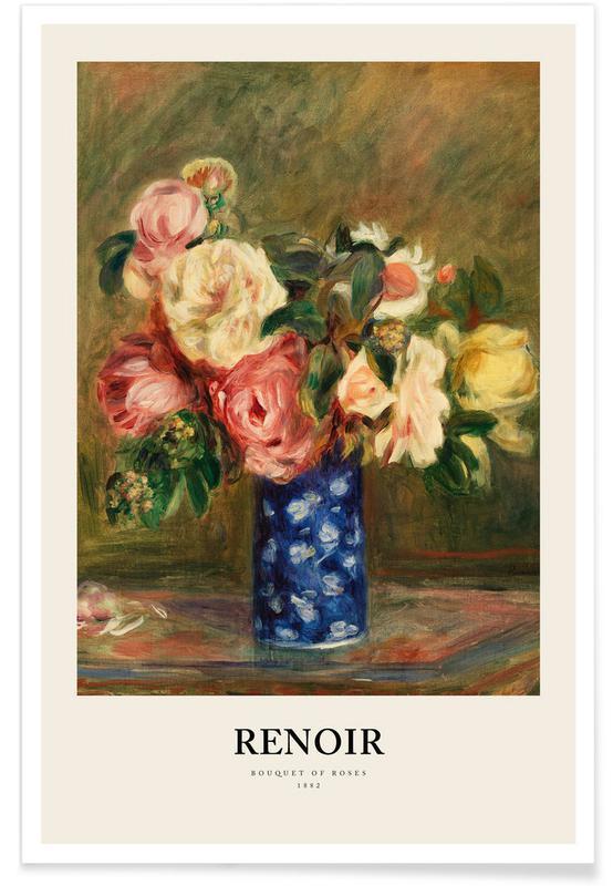 Portraits, Renoir - Bouquet of Roses affiche