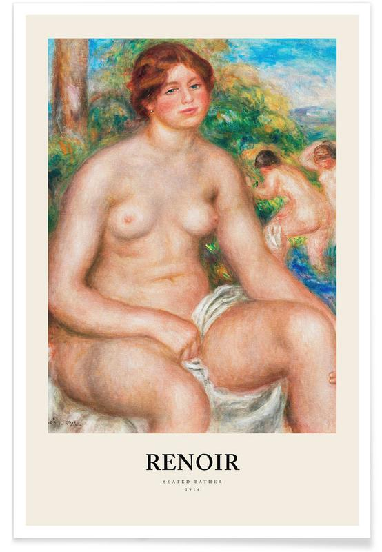 Portraits, Renoir - Seated Bather Poster