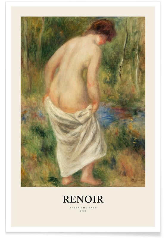 Portretten, Renoir - After the Bath poster