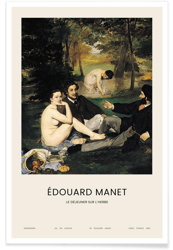 Manet, Nus, Manet - Le Déjeuner sur l'herbe affiche