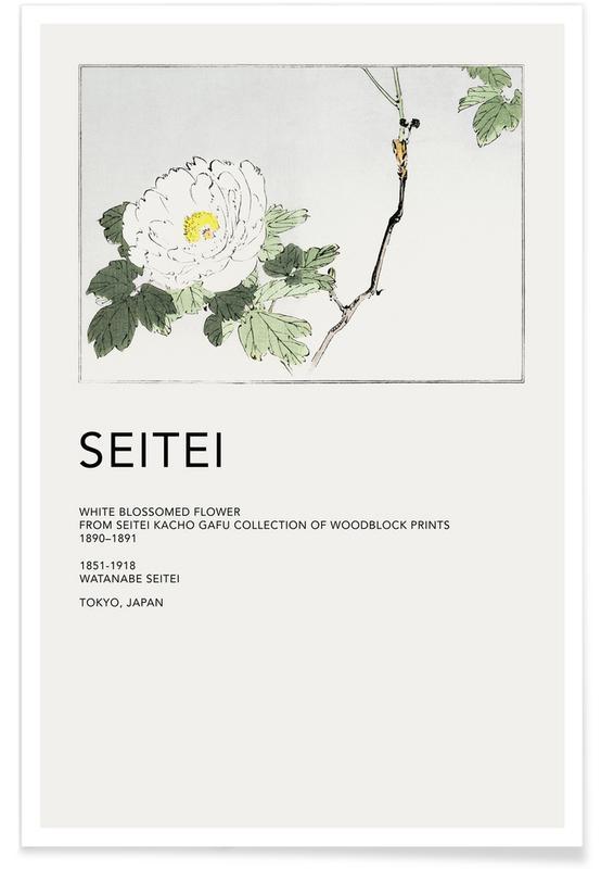 Japanisch inspiriert, Seitei - White Blossomed Flower -Poster