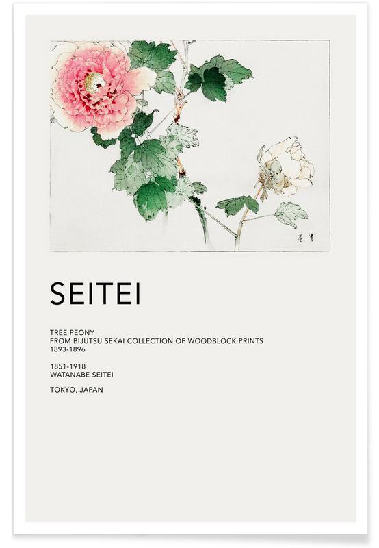 Japanese Inspired, Seitei - Tree Peony Poster