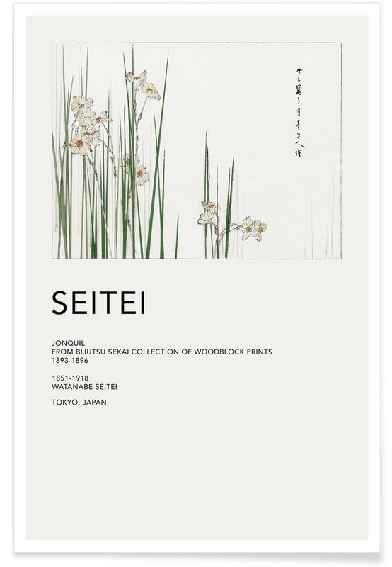 D'inspiration japonaise, Seitei, Feuilles & Plantes, Seitei - Jonquil affiche
