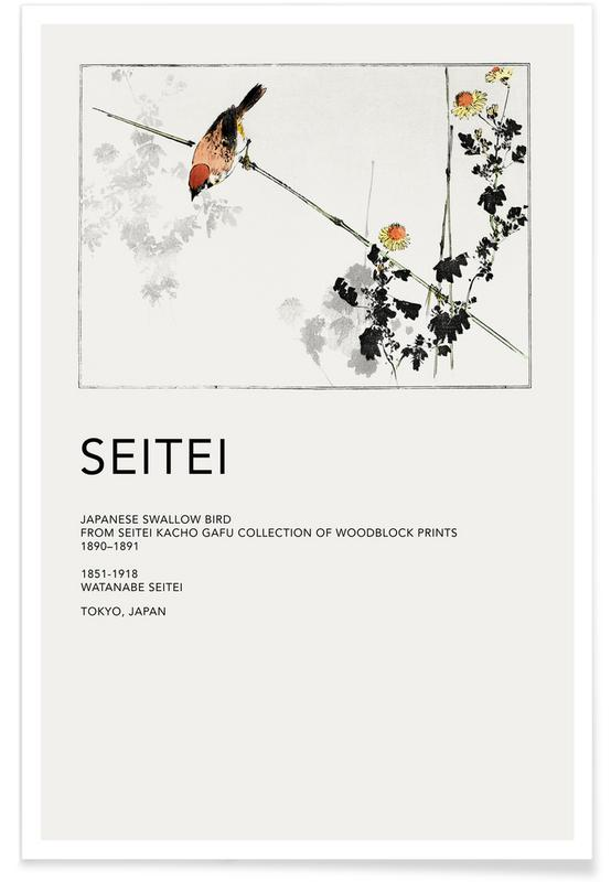 D'inspiration japonaise, Seitei, Seitei - Japanese Swallow Bird affiche