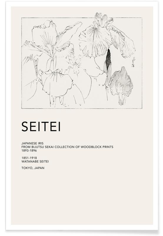 D'inspiration japonaise, Seitei - Japanese Iris affiche