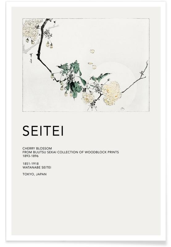 Seitei, Japanese Inspired, Leaves & Plants, Seitei - Cherry Blossom Poster