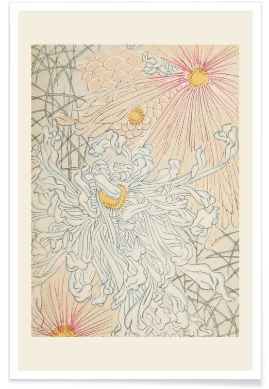 Vintage Travel, Japanese Inspired, Shin-Bijutsukai - Rays Poster