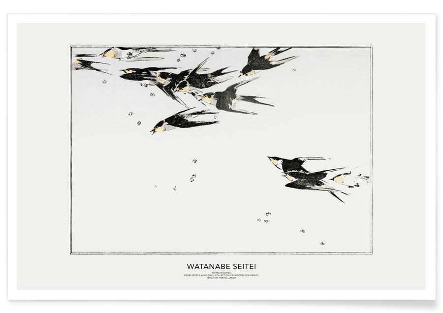 Japans geïnspireerd, Seitei - Flying Magpies poster