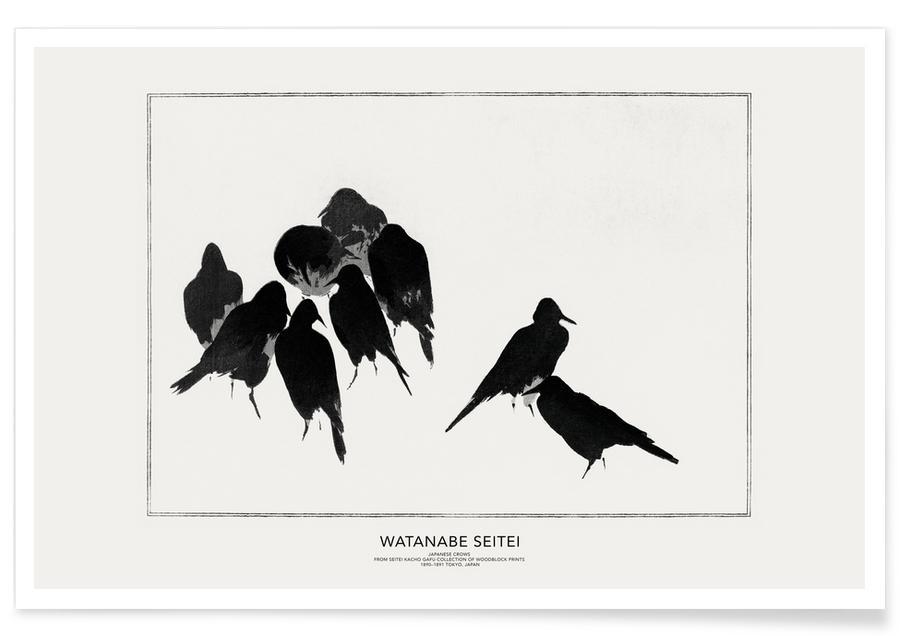 Seitei, Japans geïnspireerd, Seitei - Japanese Crows poster
