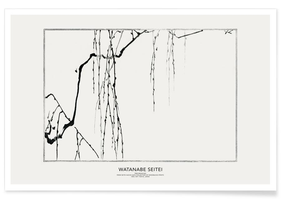 Trees, Seitei, Japanese Inspired, Seitei - Tree Branches Poster