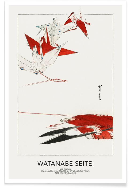 Seitei, Japanese Inspired, Seitei - Bird Origami Poster