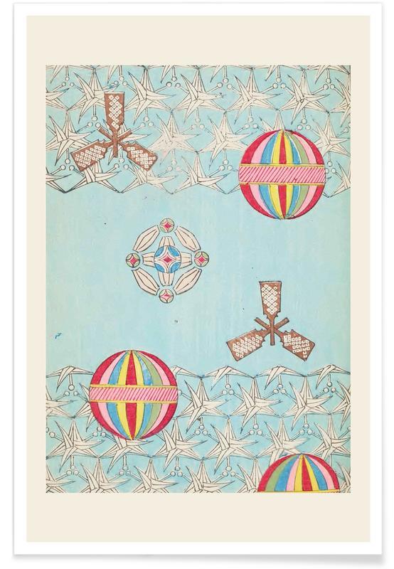 Vintage voyage, D'inspiration japonaise, Shin-Bijutsukai - Sky affiche