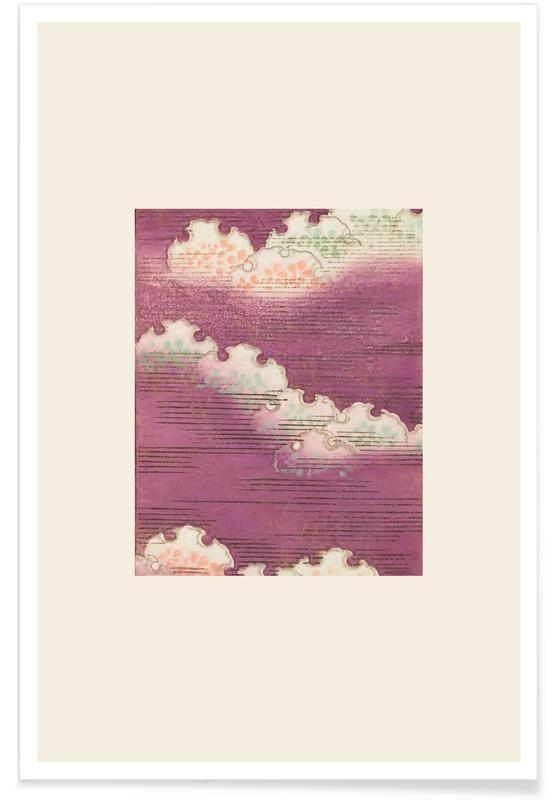 Vintage voyage, D'inspiration japonaise, Shin-Bijutsukai - Stormy Sky affiche