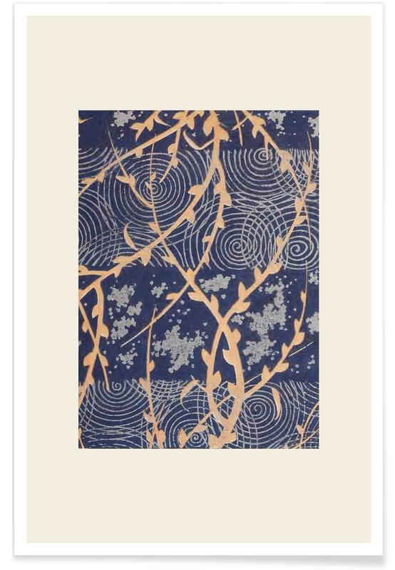 Vintage voyage, D'inspiration japonaise, Shin-Bijutsukai - Surface affiche