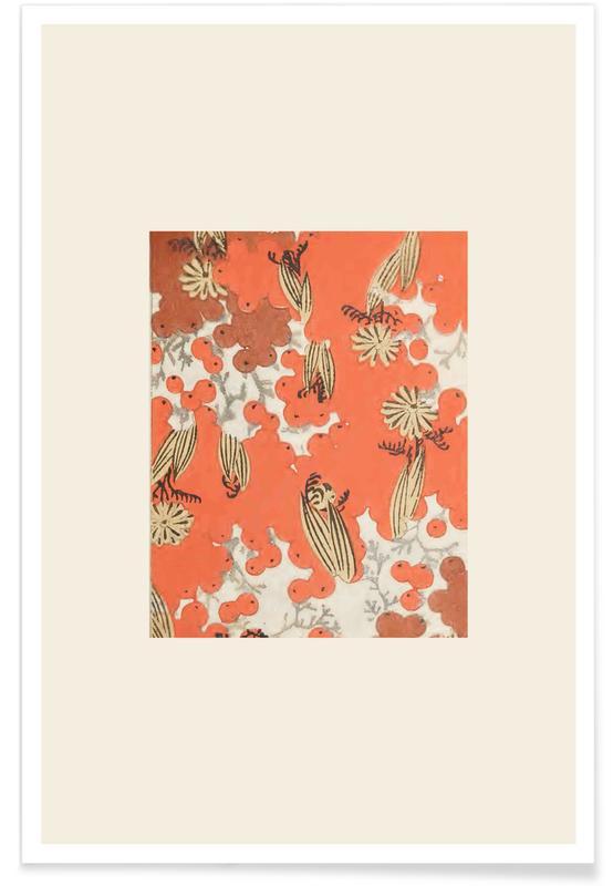 Vintage Travel, Japanese Inspired, Shin-Bijutsukai - Berry Poster
