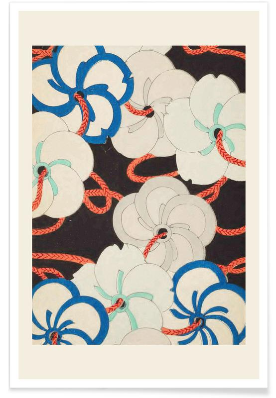 Vintage Reise, Japanisch inspiriert, Shin-Bijutsukai - Chain -Poster