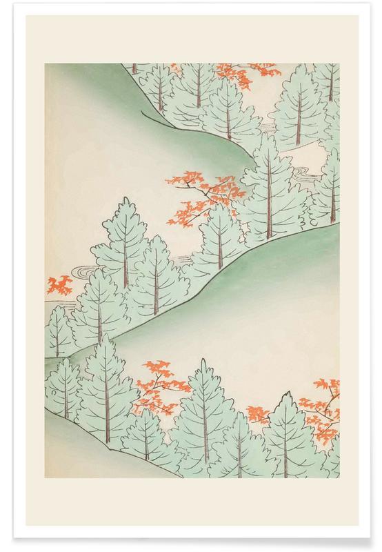 Vintage voyage, Shin-Bijutsukai, D'inspiration japonaise, Forêts, Shin-Bijutsukai - Forest Trail affiche