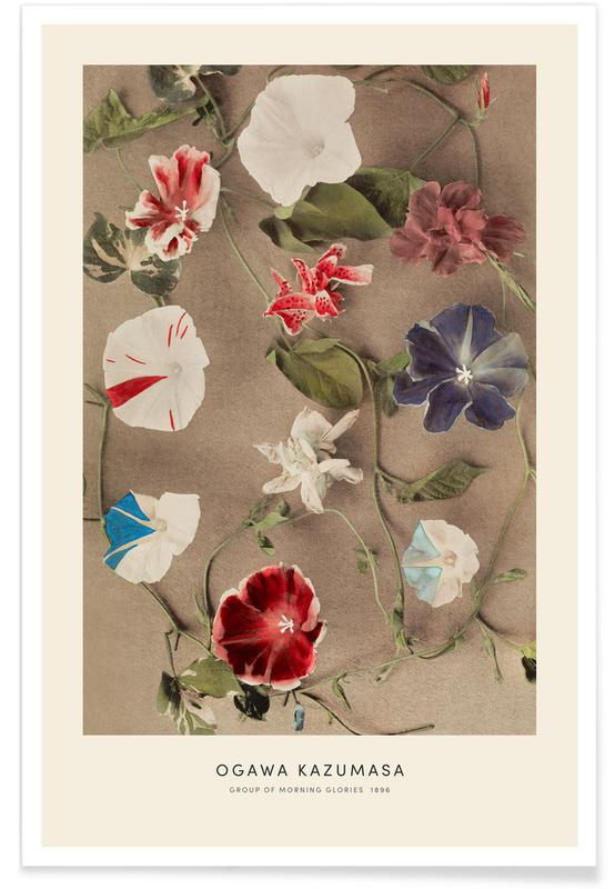 D'inspiration japonaise, Kazumasa - Group of Morning Glories affiche