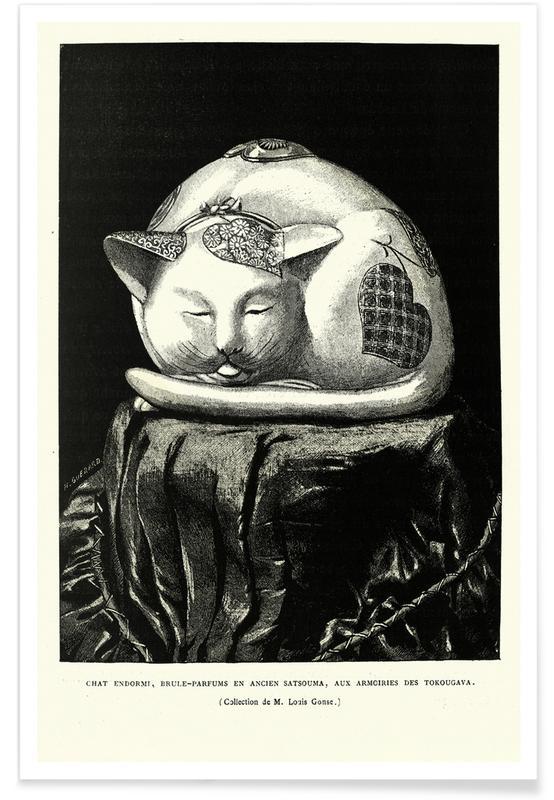 D'inspiration japonaise, Chats, Chat Endormi affiche