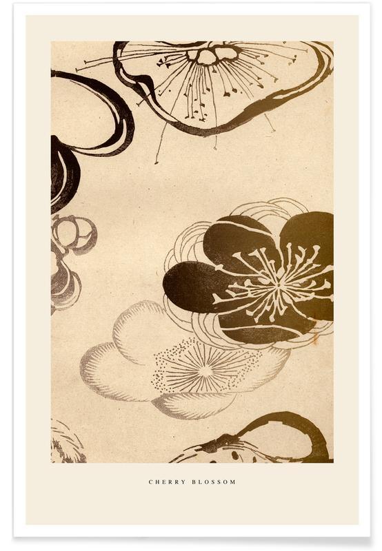 Japanese Inspired, Japanese Cherry Blossom Poster