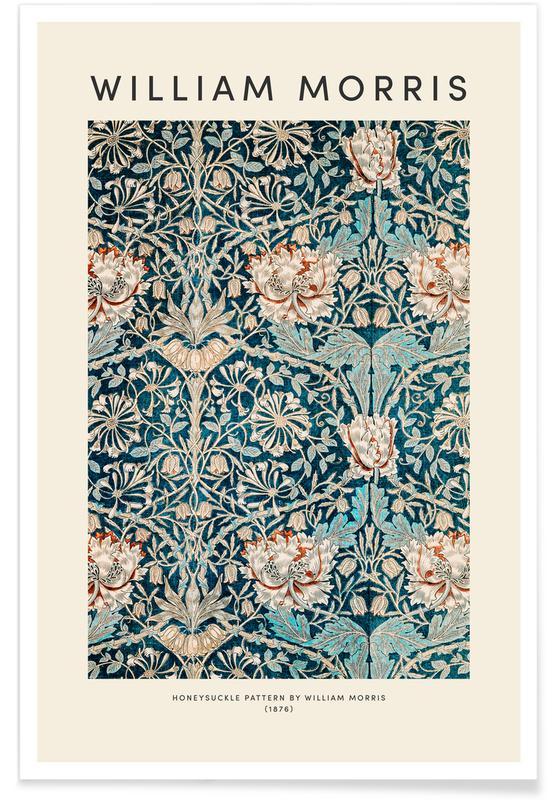 D'inspiration japonaise, William Morris - Honeysuckle affiche